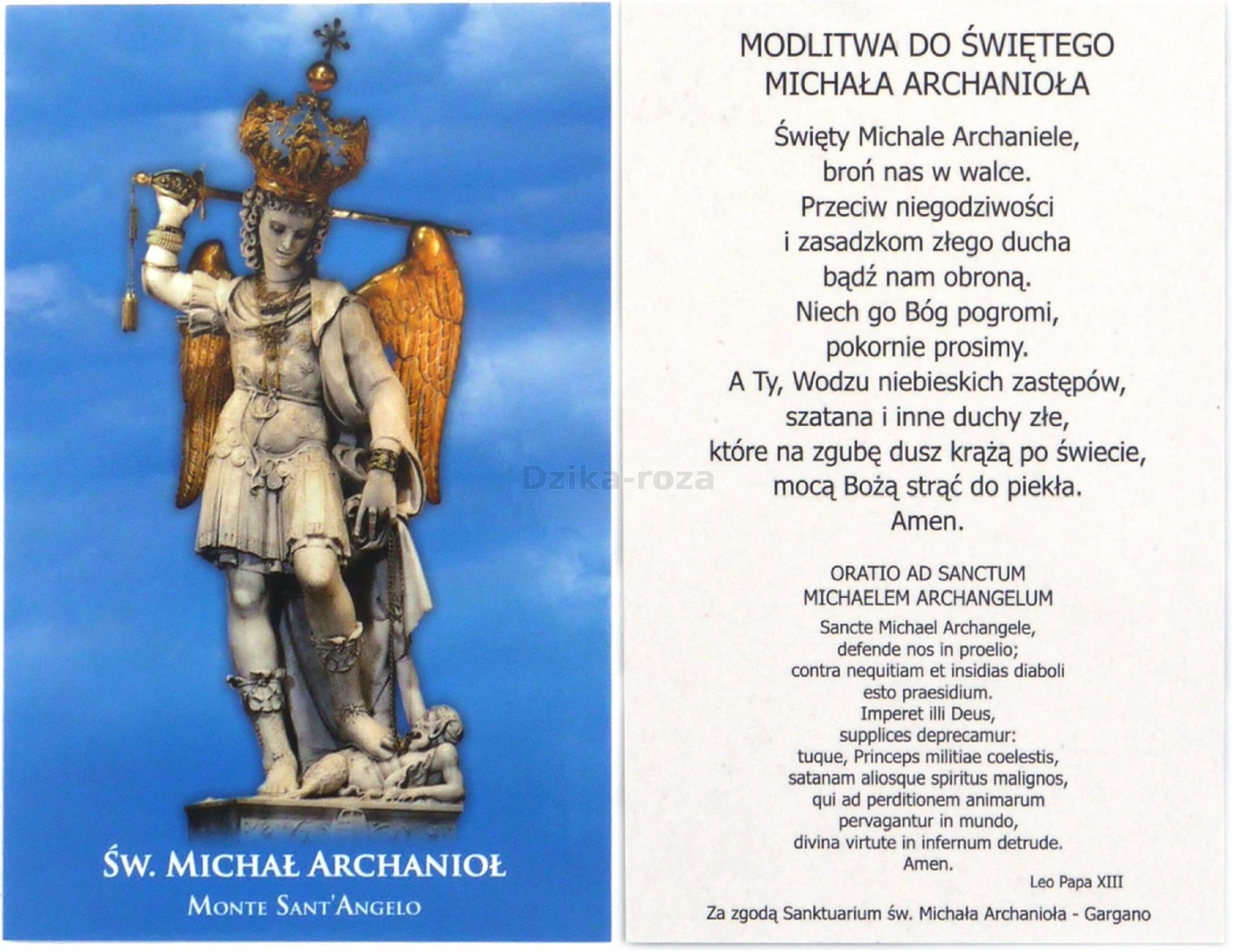 Zachęta do modlitwy za wstawiennictwem świętego Michała Archanioła