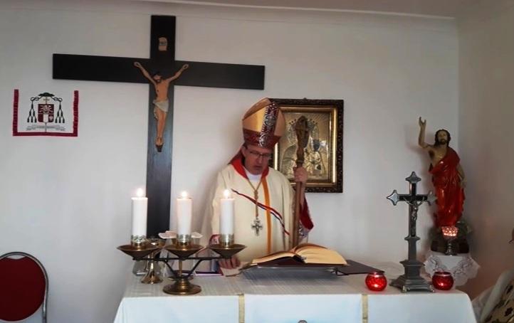 Uroczysta Msza święta z kaplicy parafialnej Świętej Trójcy w Warszawie 25 listopada 2017