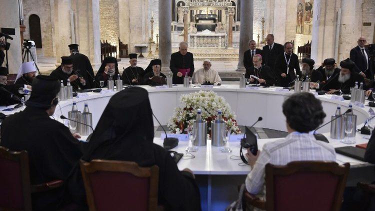 Ekumeniczne spotkanie i modlitwa w Bari 07.07.2018