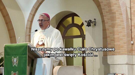 Jadem i nienawiścią niszczymy Chrystusowy Kościół