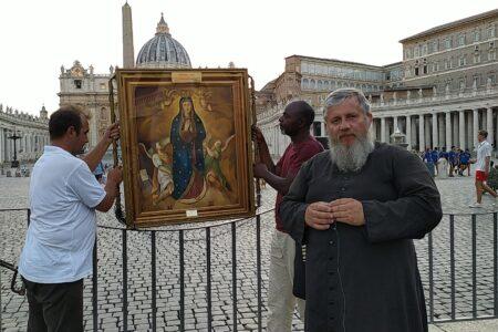 Rzymski - watykański etap peregrynacji cudownego obrazu Matki Bożej Wniebowziętej - Matki Dobrego Początku