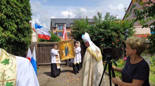 Przywitanie codownego obrazu Matki Bożej Wniebowziętej w Polsce